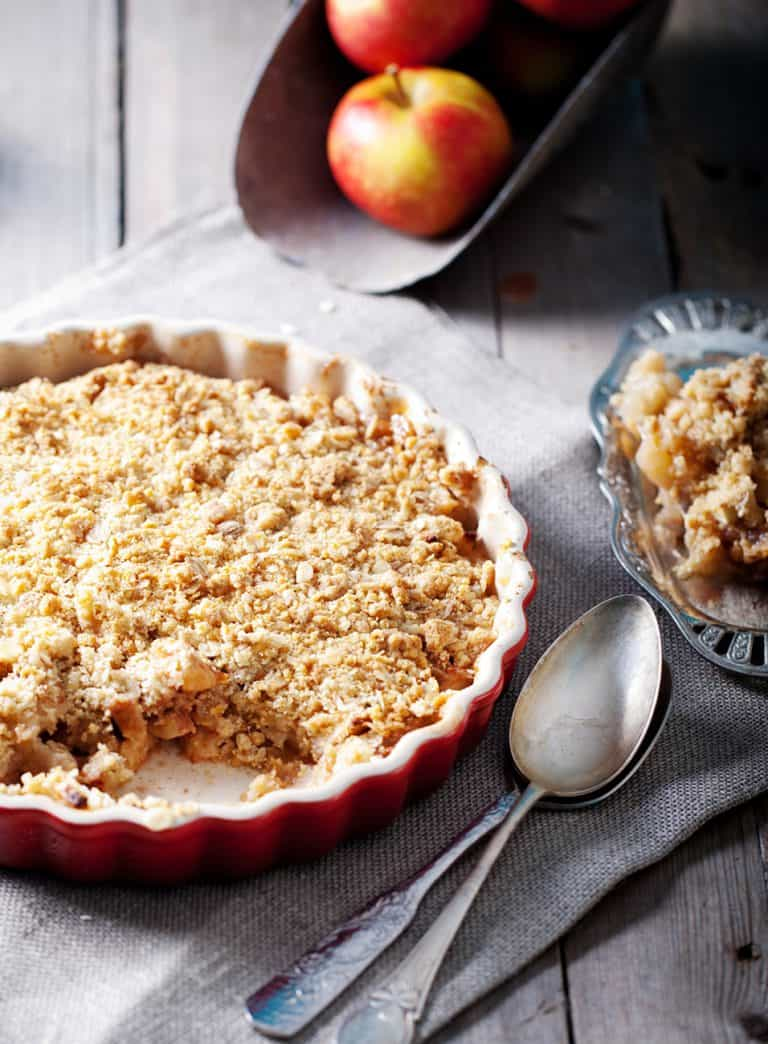 Low Protein Apple Crumble