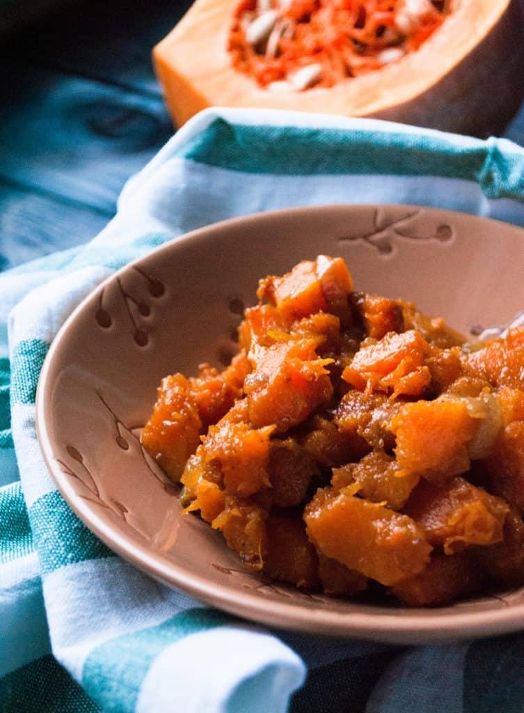 Low Protein Butternut Pumpkin Stroganoff