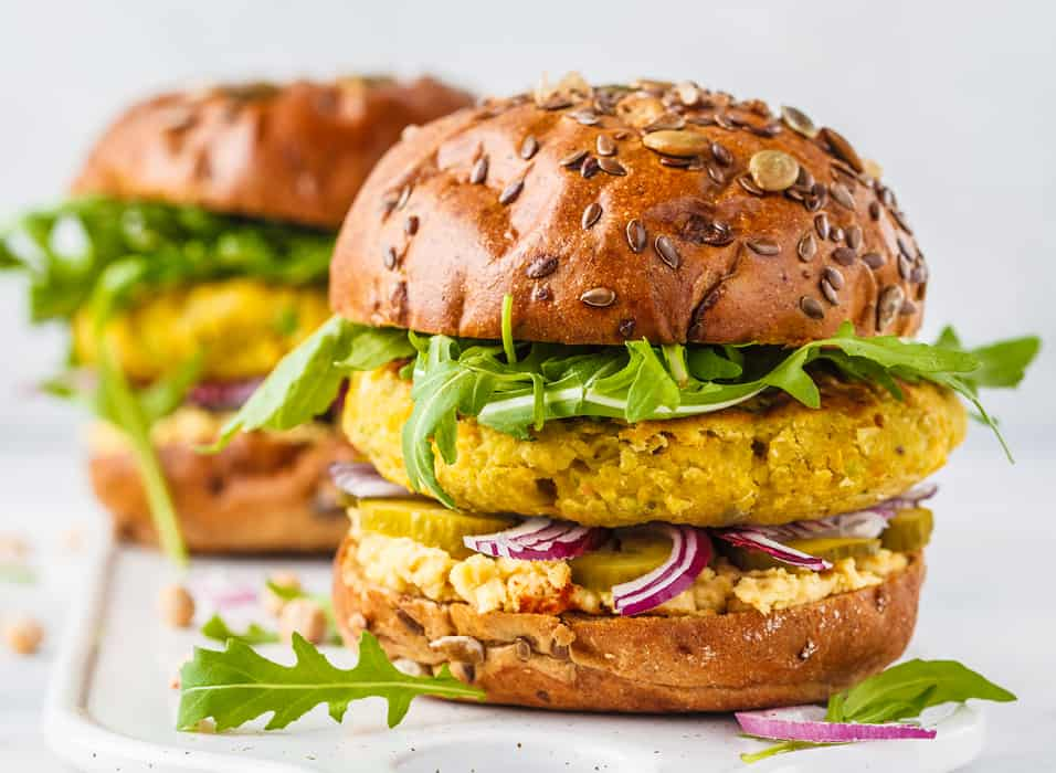 Low Protein Moroccan Rice and Vegetable Burgers